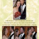Golden Roses Four Photos Collage Wedding Photo Thank You Card