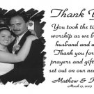 One Main Photo White Background Wedding Photo Thank You Card