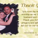 One Main Photo Golden Cream Background Wedding Photo Thank You Card