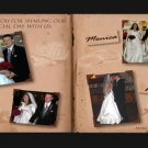 Classic Story Book Vintage Sepia Wedding Photo Thank You Card