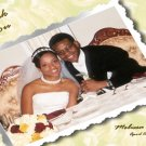 One Main Photo Flowers in Any Colors Wedding Photo Thank You Card