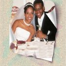 Wedding Photo Thank You Card Main Photo Whimsical Textured Background