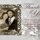 Wedding Photo Thank You Card Elegant Golden Frame One Main Photo