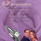 Lavender Roses & Ring Photo Engagement & Wedding Announcements 5 x 8
