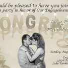 Celebration Vintage Photo Engagement and Wedding Announcements 5 x 8