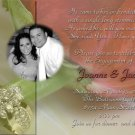 Roses with Ring Photo Engagement and Wedding Announcements 5 x 8