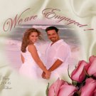 Photo Engagement and Wedding Announcements 5 x 8 Satin Sheets Flowers