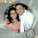 Elegant Silver Rings Photo Engagement and Wedding Announcements 5 x 8