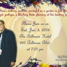 Flowery Photo Engagement and Wedding Announcements 5 x 8