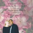 Flower Background Pink Photo Engagement and Wedding Announcements 5x8