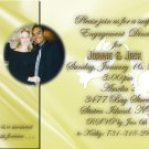 Golden Wedding Doves Photo Engagement and Wedding Announcements 5 x 8