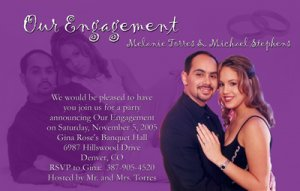 Photo Engagement and Wedding Announcements 5 x 8 Any Color Combination