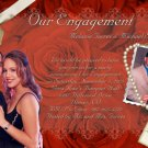 Red Roses up to 5 Pics Photo Engagement and Wedding Announcements 5x8