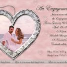 Silver Hearts Frame Photo Engagement and Wedding Announcements 5 x 8
