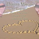 Beach Wedding Photo Engagement and Wedding Announcements 5 x 8