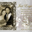 Elegant Gold Frame Photo Engagement and Wedding Announcements 5 x 8