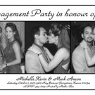 Black & White 3 Pics Photo Engagement and Wedding Announcements 5 x 8