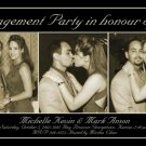 Black & Sepia 3 Pics Photo Engagement and Wedding Announcements 5 x 8
