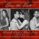Red Roses 3 Photos Photo Engagement and Wedding Announcements 5 x 8