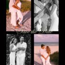 Black & White 4 Photo Engagement & Wedding Announcements 5 x 8