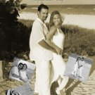 Sepia Collage of Pics Photo Engagement & Wedding Announcements 5 x 8