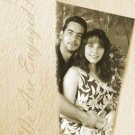Textured Vintage Color Photo Engagement & Wedding Announcements 5 x 8