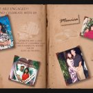 Story Book with 4 Pics Photo Engagement and Wedding Announcements 5x8