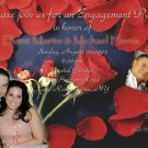 Roses & Petals Photo Engagement and Wedding Announcements 5 x 8