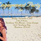 Beach Scenery Photo Engagement and Wedding Announcements 5 x 8