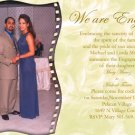 Custom Color One Pic Photo Engagement and Wedding Announcements 5 x 8