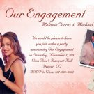 Coral Hibiscus Flower Photo Engagement & Wedding Announcements 5 x 8