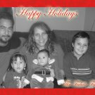 Custom Family Photo Red Border Custom Photo Christmas Cards 5 x 8