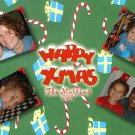 Candy Land Four Main Photos Custom Photo Christmas Cards 5 x 8