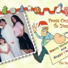 Our Home to Yours Delivery Custom Photo Christmas Cards 5 x 8