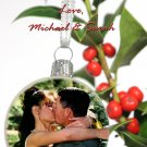 Colorful Unique Christmas Ball Pic Custom Photo Christmas Cards 5 x 8