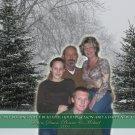 Snowy Christmas Trees Family Photo Custom Photo Christmas Cards 5 x 8