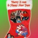 Christmas Stocking Multi Photos Custom Photo Christmas Cards 5 x 8