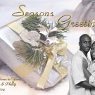 Gold and Silver Custom to Your Need Custom Photo Christmas Cards 5x8