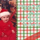Festive Plaids in Red and Green Custom Photo Christmas Cards 5 x 8
