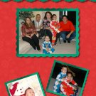 Red and Green Snowflakes Collage Custom Photo Christmas Cards 5 x 8