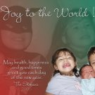 Personalized Red & Green / Colors Custom Photo Christmas Cards 5 x 8
