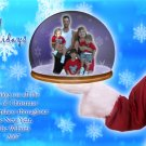 Santa Claus Holding Snow Globe Pic Custom Photo Christmas Cards 5 x 8