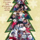 Collage of Multi Photos in a Tree Custom Photo Christmas Cards 5 x 8
