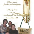 Gold Knob Photo Moving Announcement & Housewarming Party Invitations