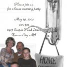 Silver Knob Photo Moving Announcement Housewarming Party Invitations