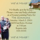 Sweet Home Photo Moving Announcement & Housewarming Party Invitations