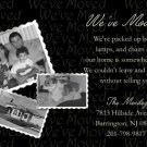 Elegant BW Photo Moving Announcement & Housewarming Party Invitations