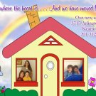 Photo Moving Announcement & Housewarming Party Invitations Cute House