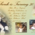 Custom Colored Multi Photos Photo Adult Birthday Invitations