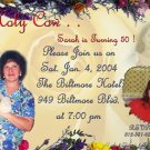 Photo Adult Birthday Invitations Floral 50th, 60th 70th, 80th any age